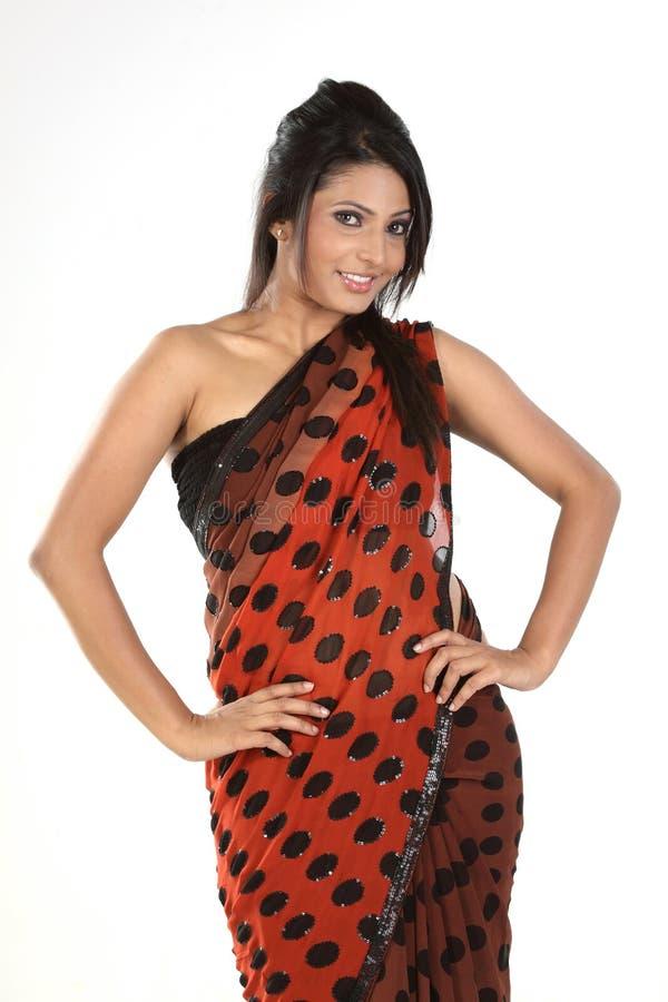Mulher indiana no sari imagem de stock royalty free
