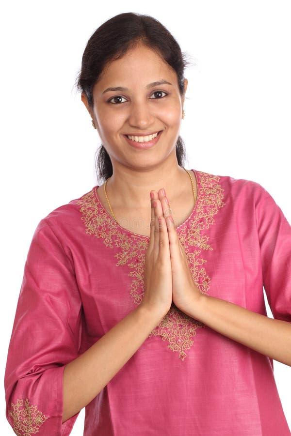 Mulher indiana nova imagem de stock