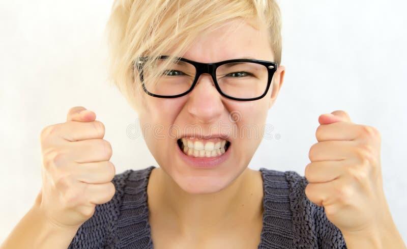 Mulher irritada fotografia de stock royalty free