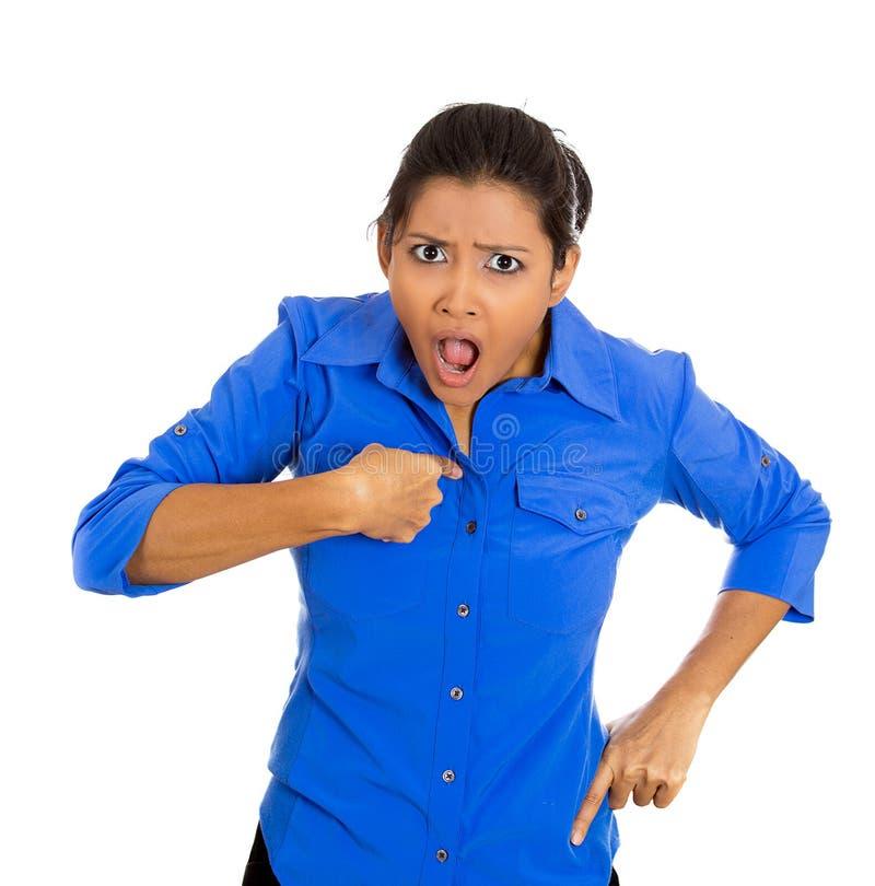 Mulher irritada foto de stock royalty free
