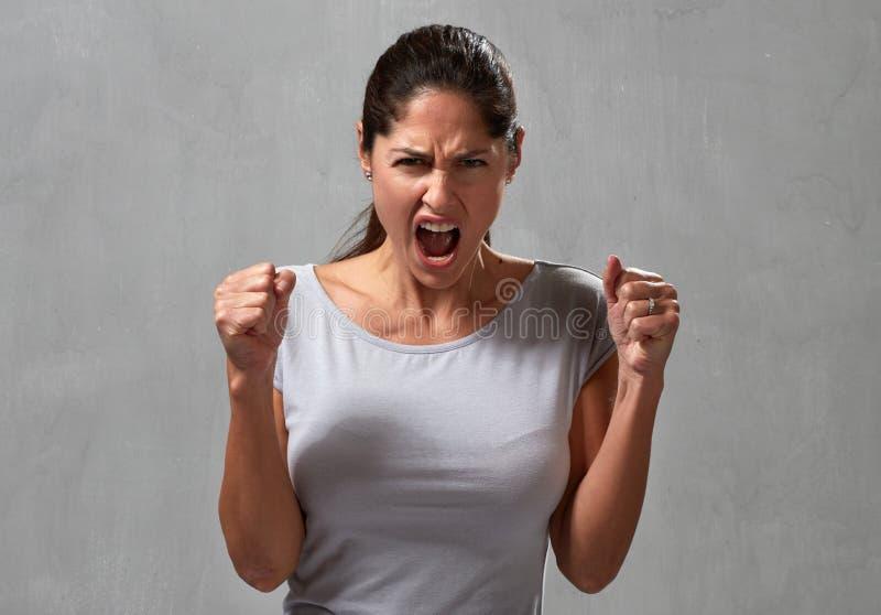 Mulher irritada foto de stock