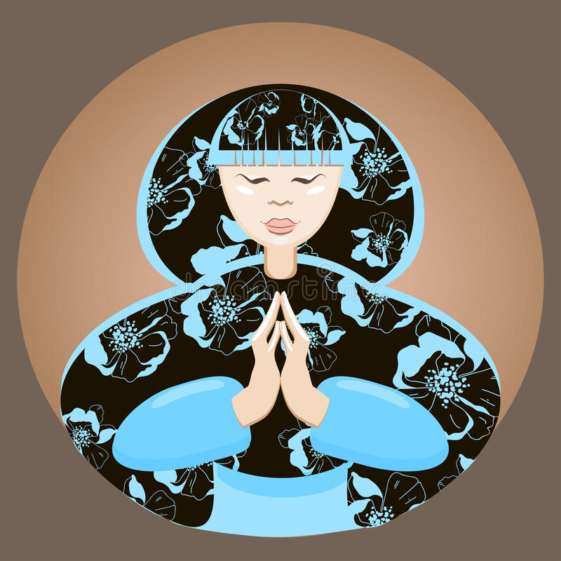Mulher Japonesa Calma Bonita Imagens de Stock