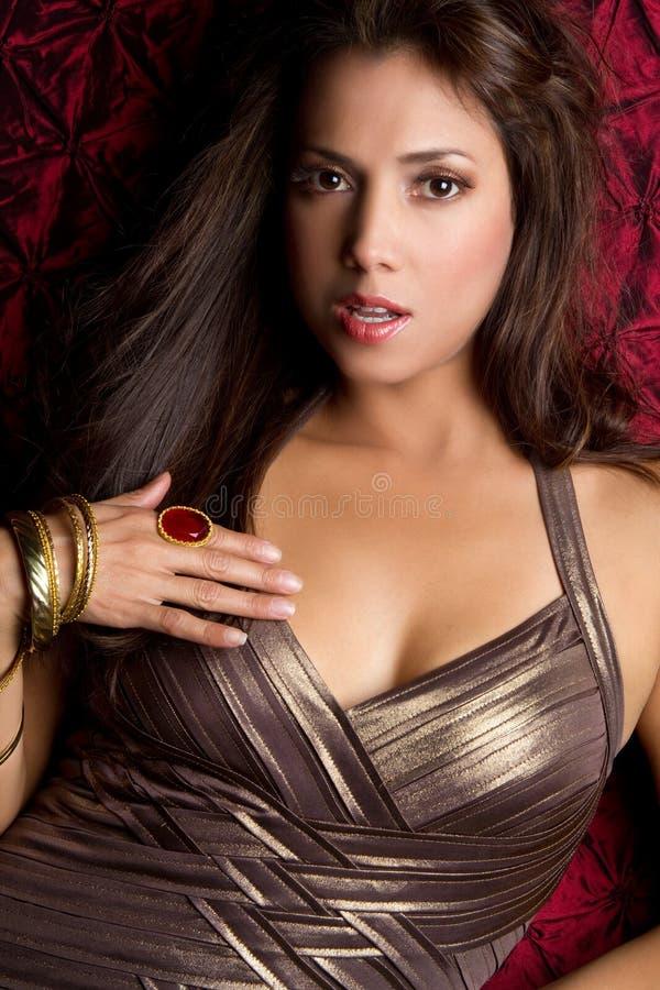 Mulher Latin bonita imagens de stock