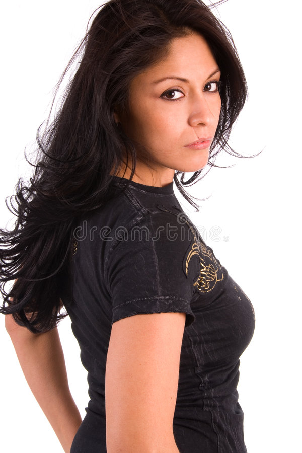 Mulher Latin bonita. imagens de stock
