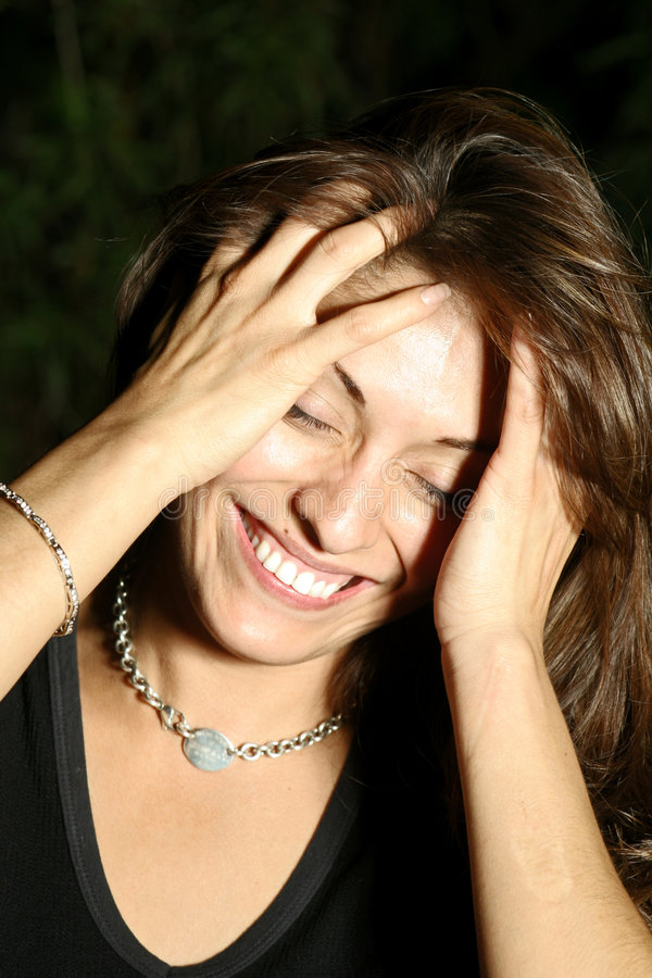 Mulher latino-americano de riso imagem de stock royalty free