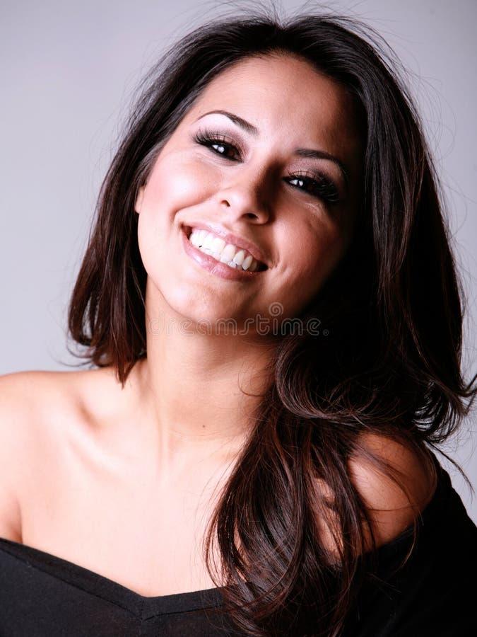 Mulher latino-americano de riso foto de stock