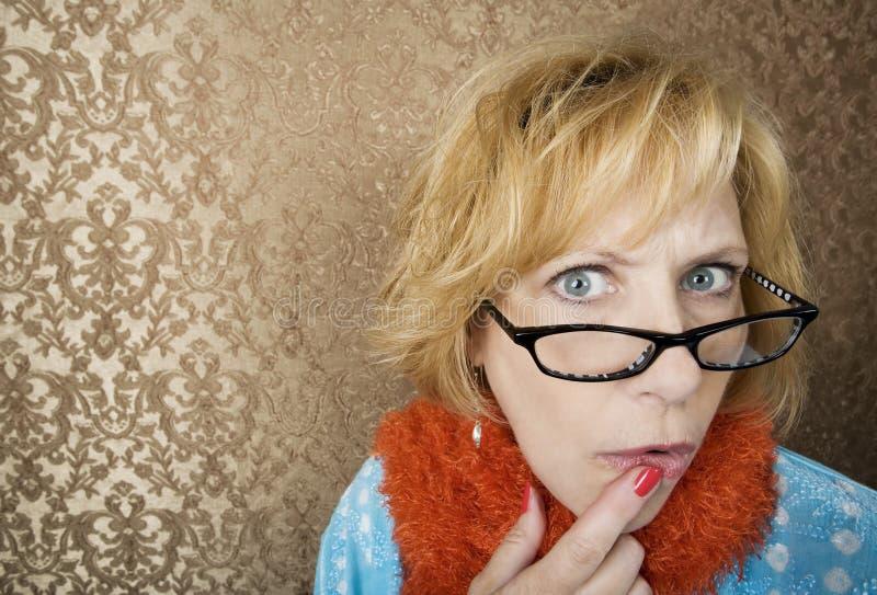 Mulher louca foto de stock