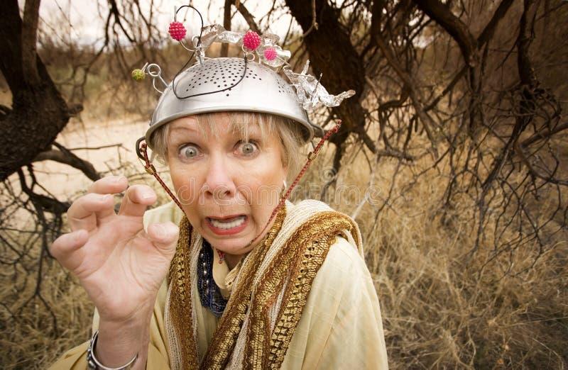 Mulher louca foto de stock royalty free