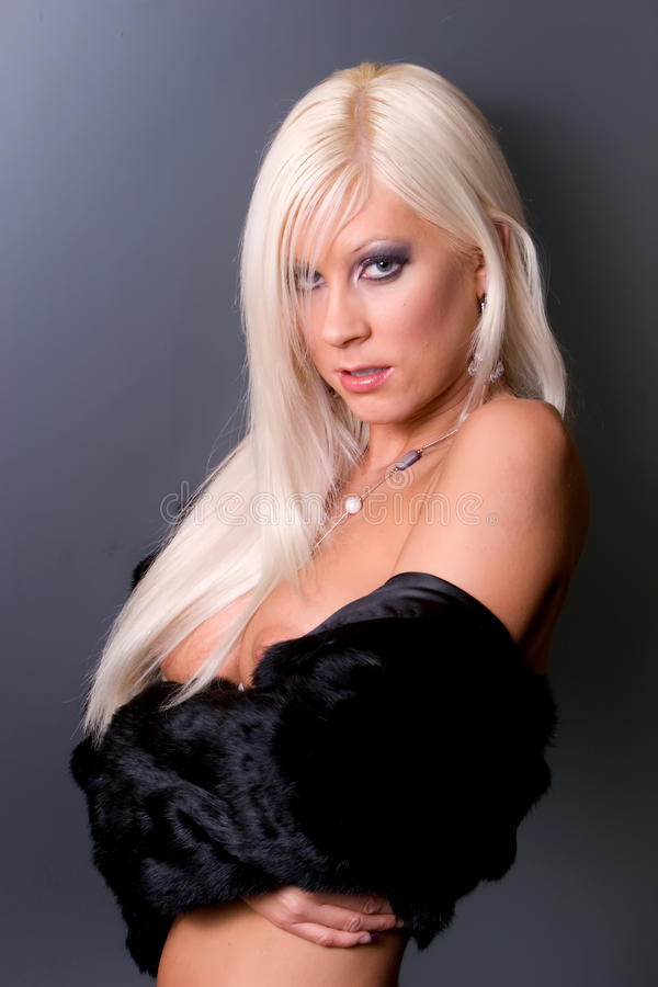 Mulher loura fotografia de stock royalty free
