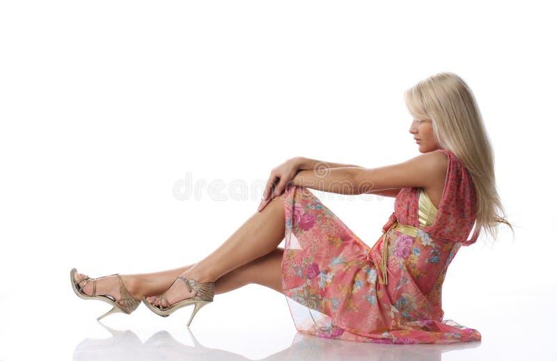 Mulher loura imagens de stock royalty free