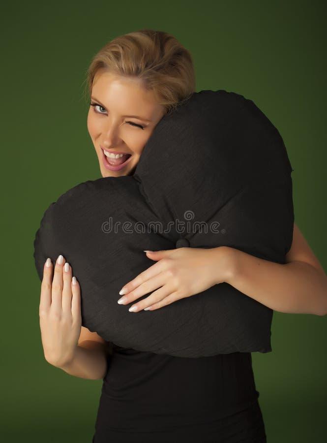 Mulher loura fotografia de stock