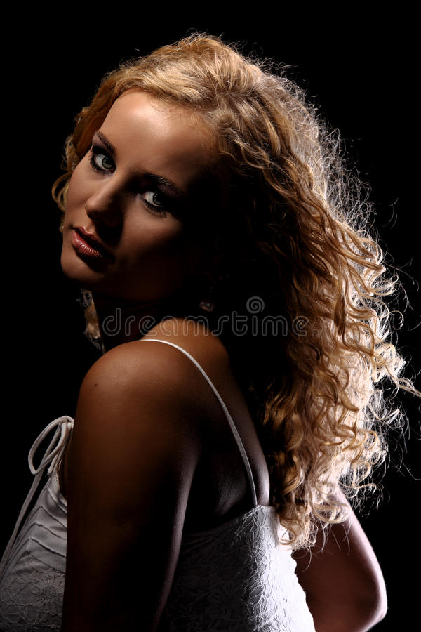 Mulher loura bonita foto de stock royalty free