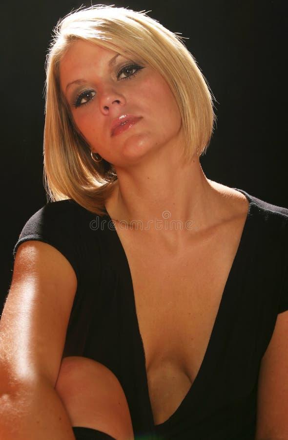 Mulher loura bonita foto de stock