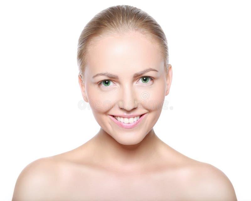 Mulher loura de sorriso bonita imagem de stock royalty free
