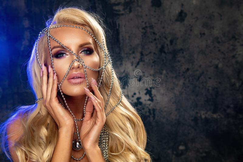 Mulher loura sensual imagens de stock royalty free