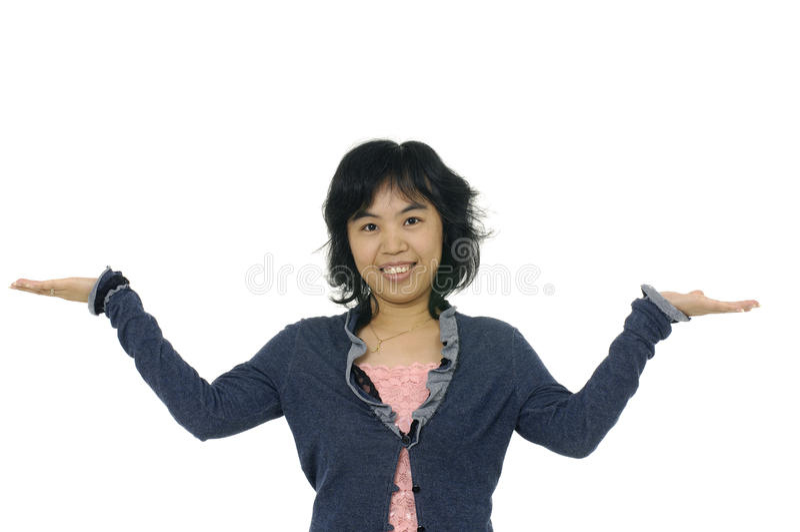 Mulher média asiática fotografia de stock