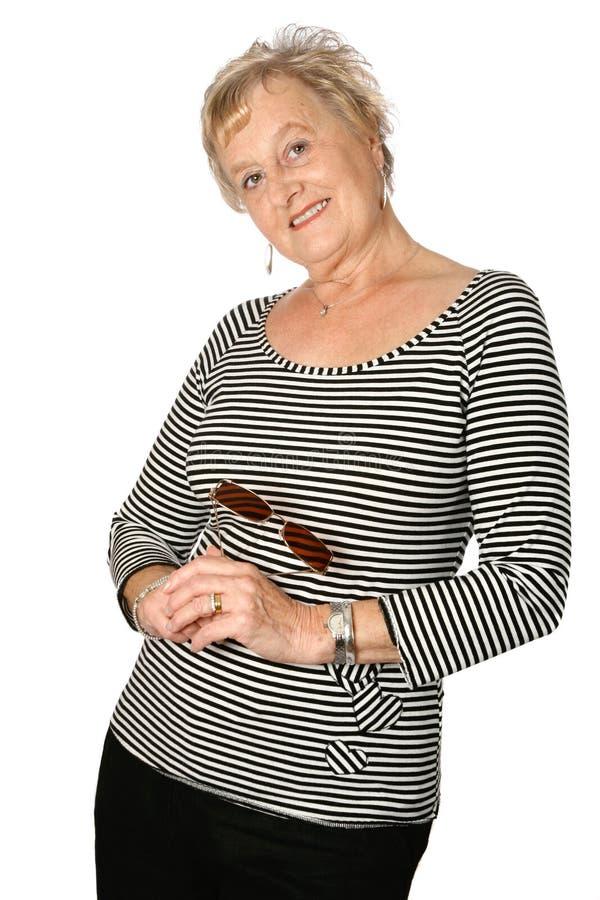 Mulher madura em ocasional fotos de stock royalty free