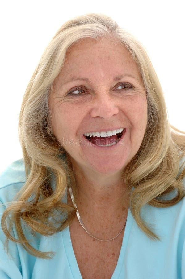Mulher madura feliz fotos de stock