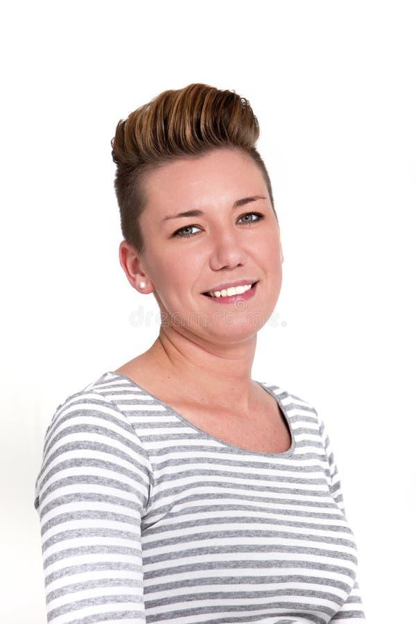 Mulher madura moderna de sorriso bonita imagens de stock