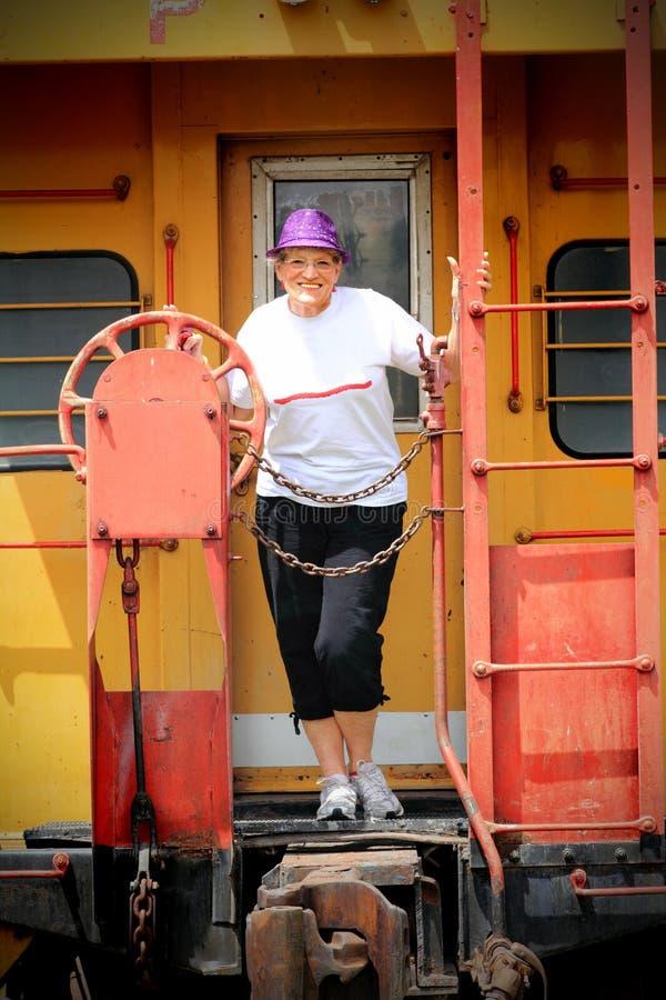 Mulher mais idosa feliz fotografia de stock royalty free