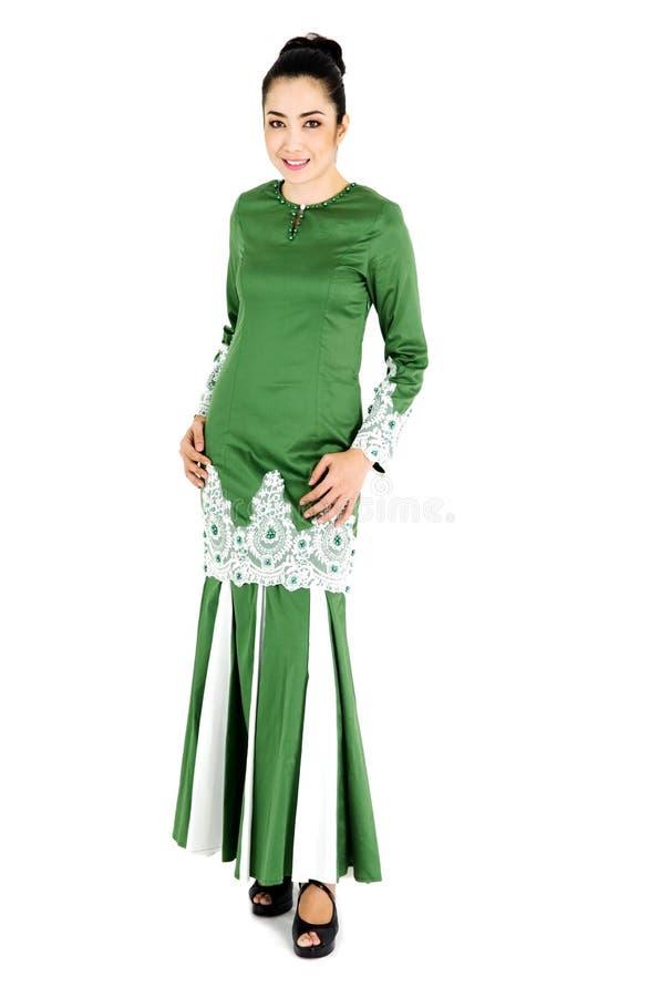 Mulher malaio no vestido tradicional fotos de stock royalty free