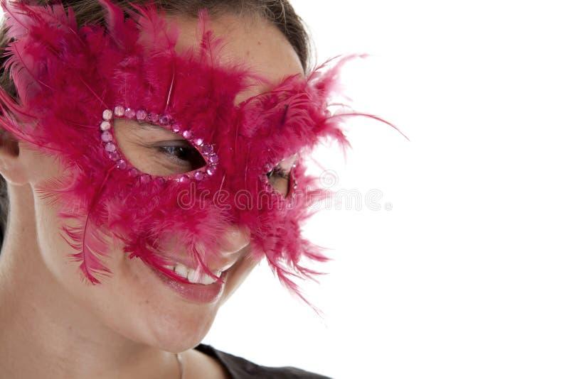 Mulher mascarada. foto de stock