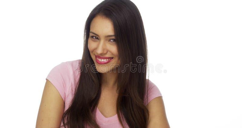 Mulher mexicana adorável que ri e que sorri fotos de stock royalty free