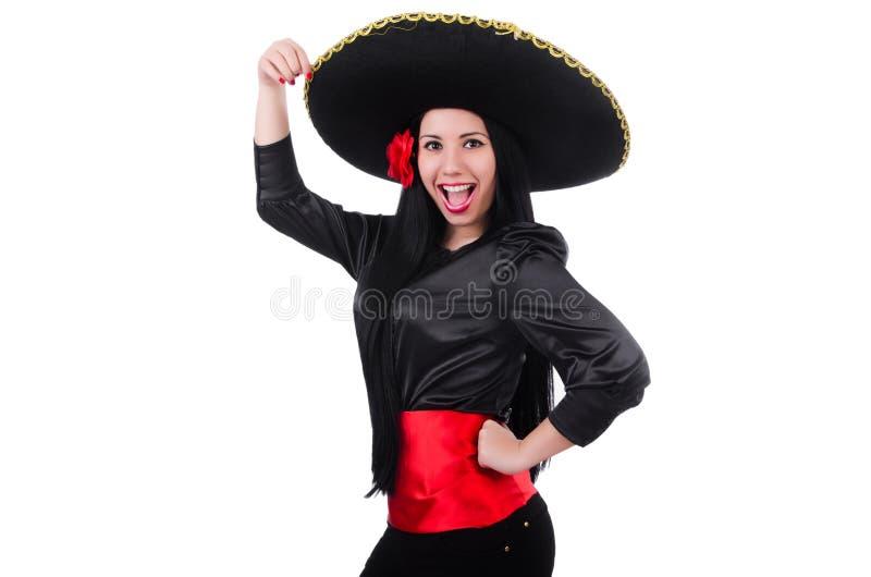 Mulher mexicana isolada fotografia de stock