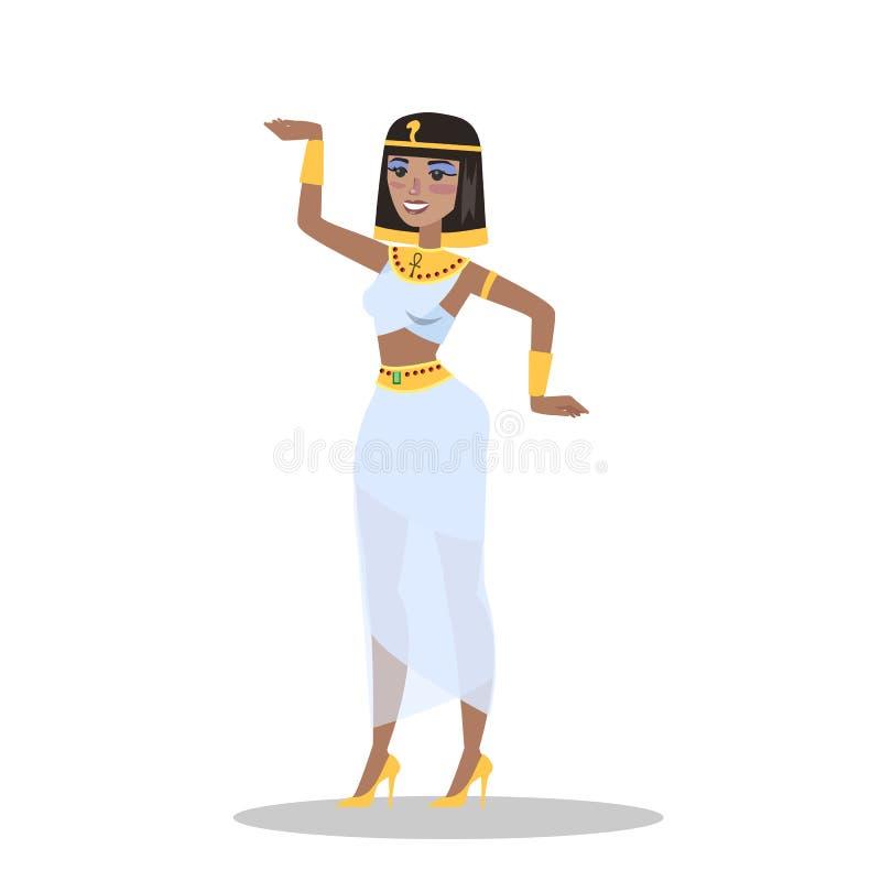 Mulher moreno bonita no vestido egípcio antigo ilustração royalty free