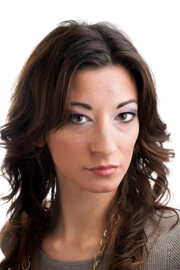 Mulher moreno italiana imagens de stock