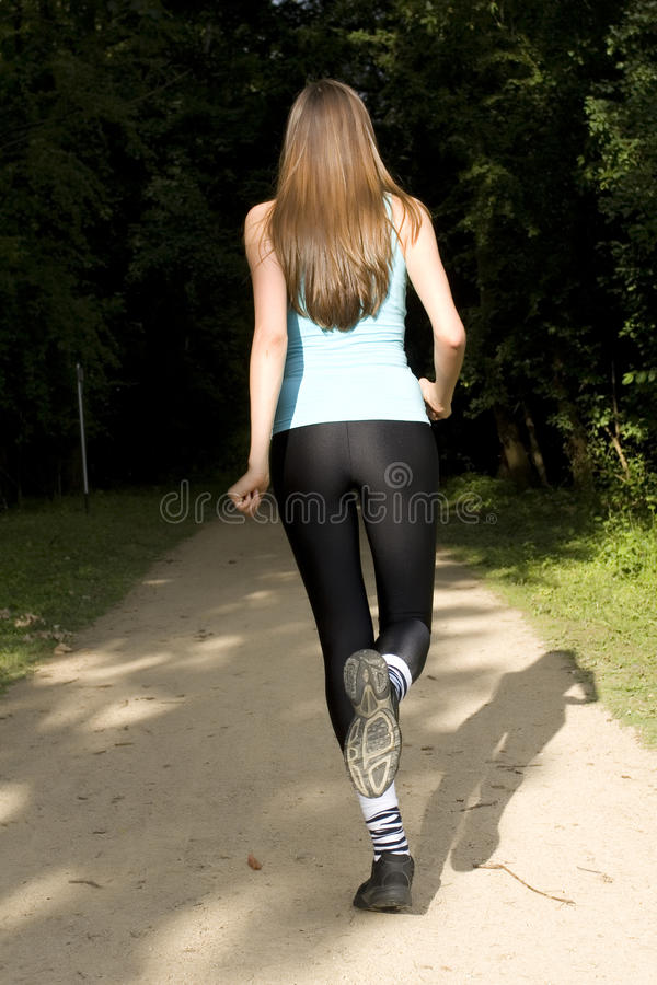 Mulher movimentando-se fotografia de stock royalty free