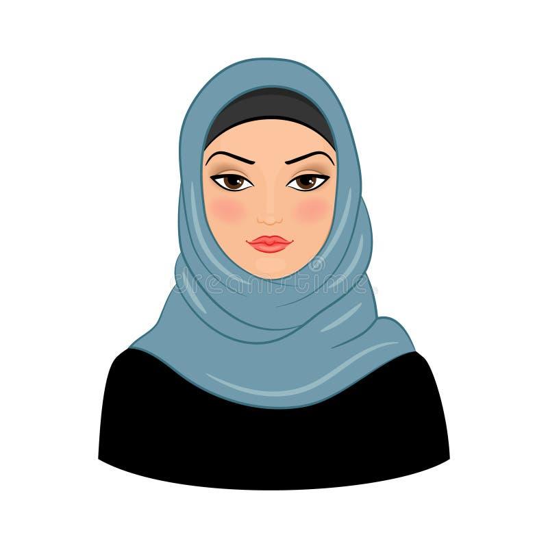 Mulher muçulmana árabe ilustração royalty free