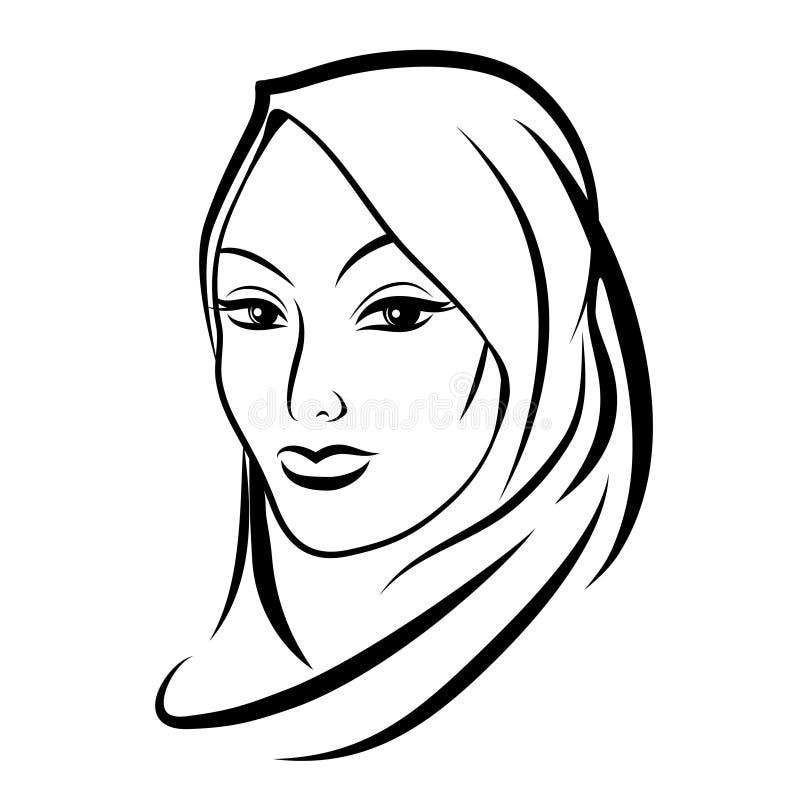 Mulher muçulmana árabe bonita ilustração stock