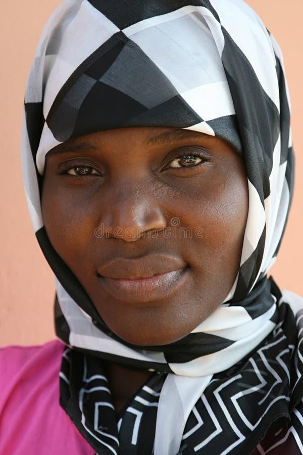 Mulher muçulmana africana fotografia de stock