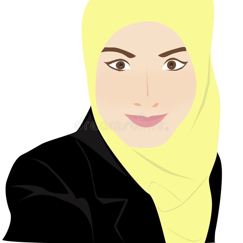 Mulher muçulmana nova foto de stock royalty free