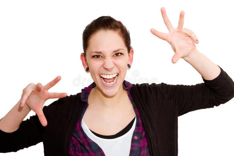 Mulher muito irritada fotografia de stock royalty free
