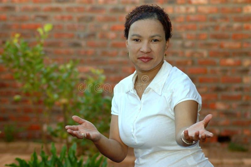 Mulher Multi-racial foto de stock