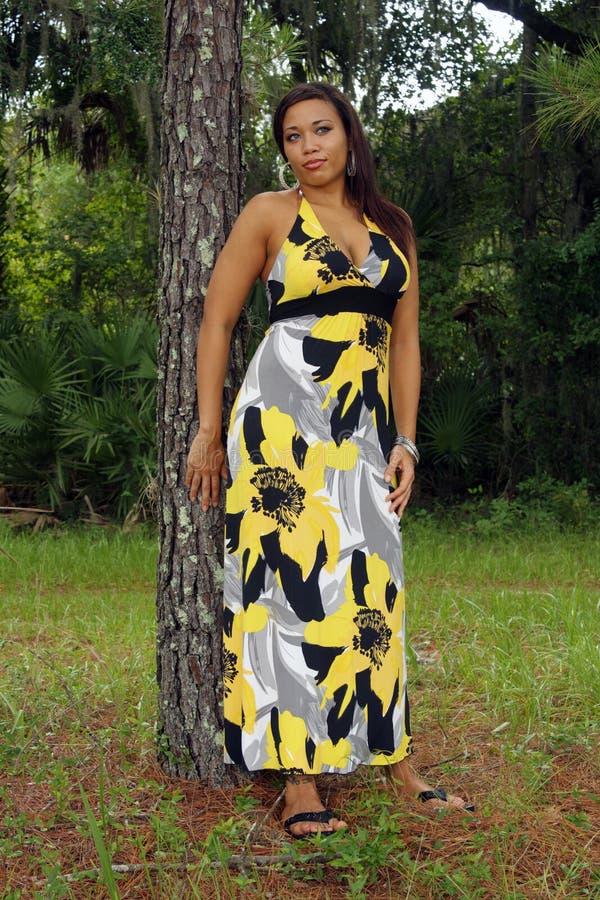Mulher Multiracial bonita ao ar livre (1) fotos de stock