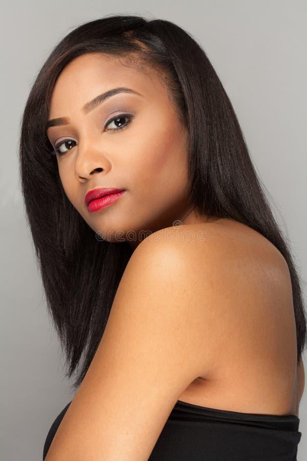 Mulher multiracial lindo fotografia de stock