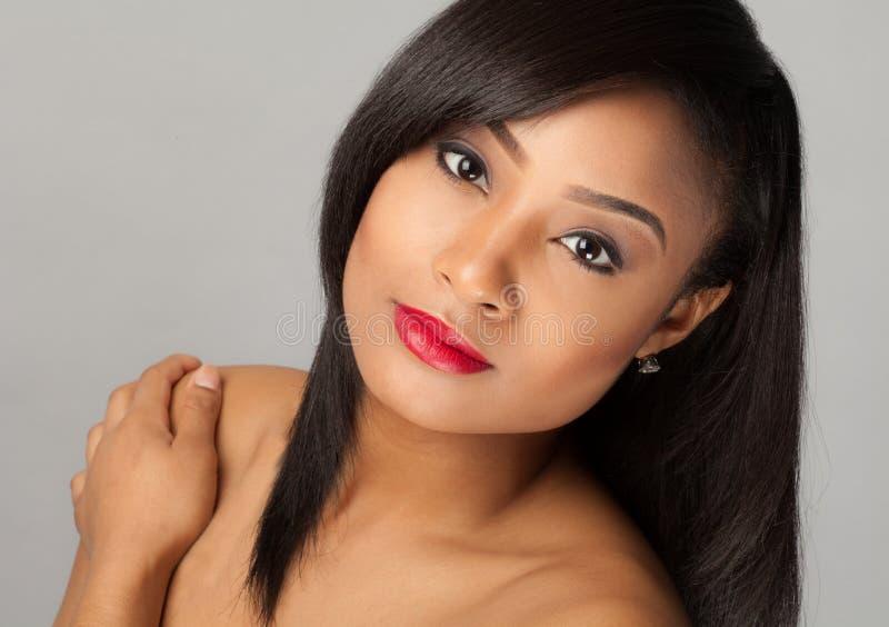 Mulher multiracial lindo fotografia de stock royalty free