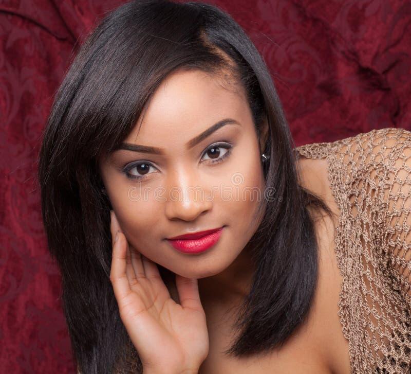 Mulher multiracial lindo imagem de stock