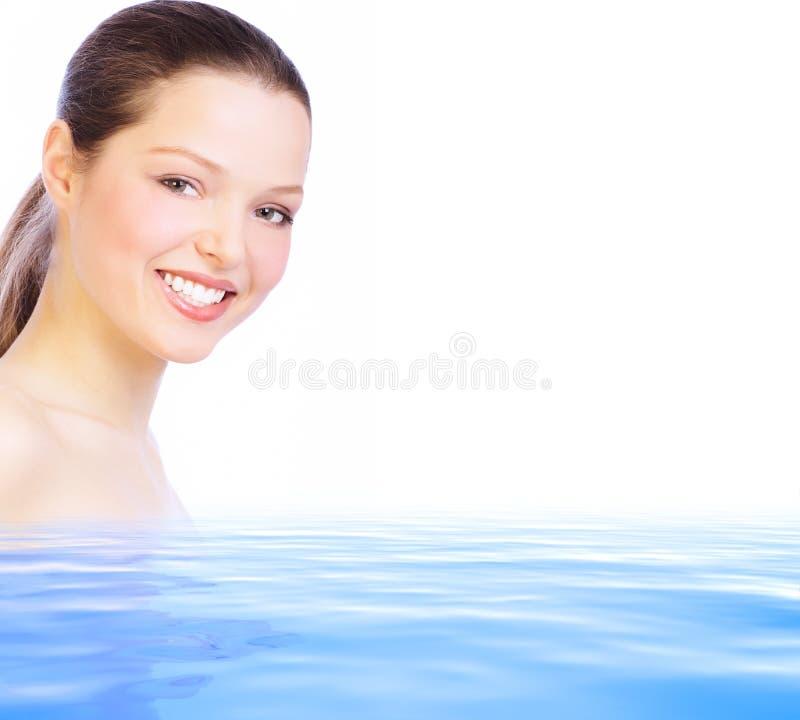 Mulher na água foto de stock royalty free