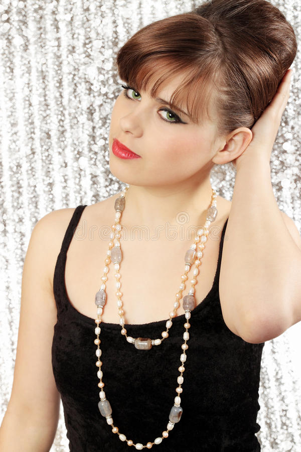 Mulher na colar foto de stock royalty free