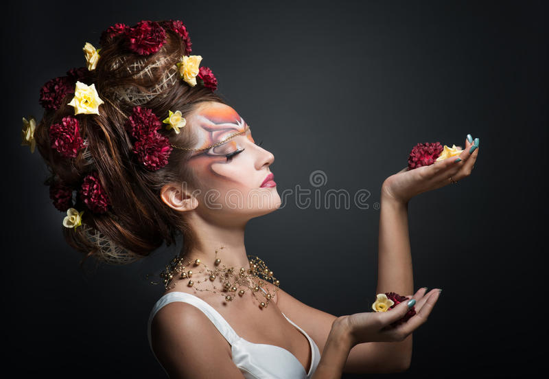 Mulher na composição da arte imagem de stock royalty free
