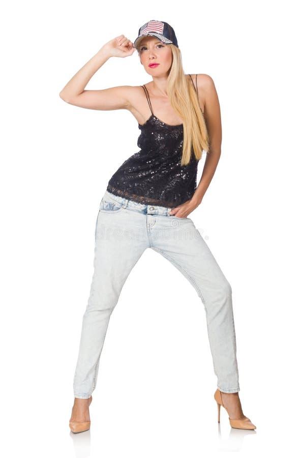 Mulher na forma imagem de stock