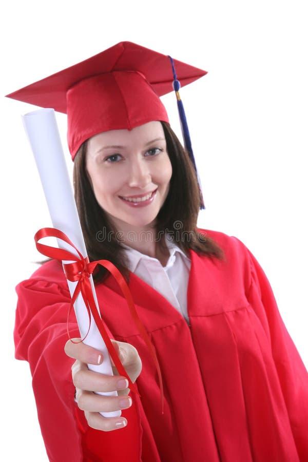 Mulher na graduação foto de stock
