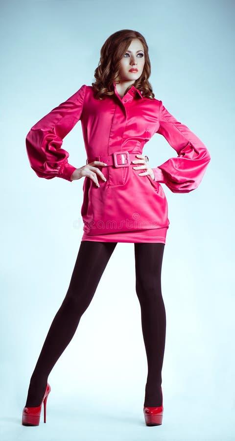 Mulher na roupa da forma fotos de stock