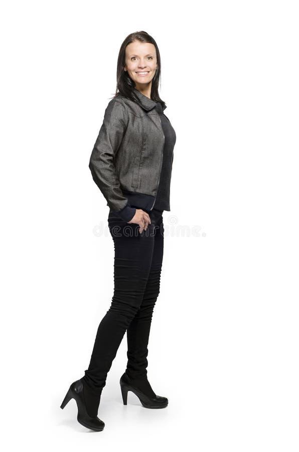Mulher na roupa ocasional foto de stock royalty free