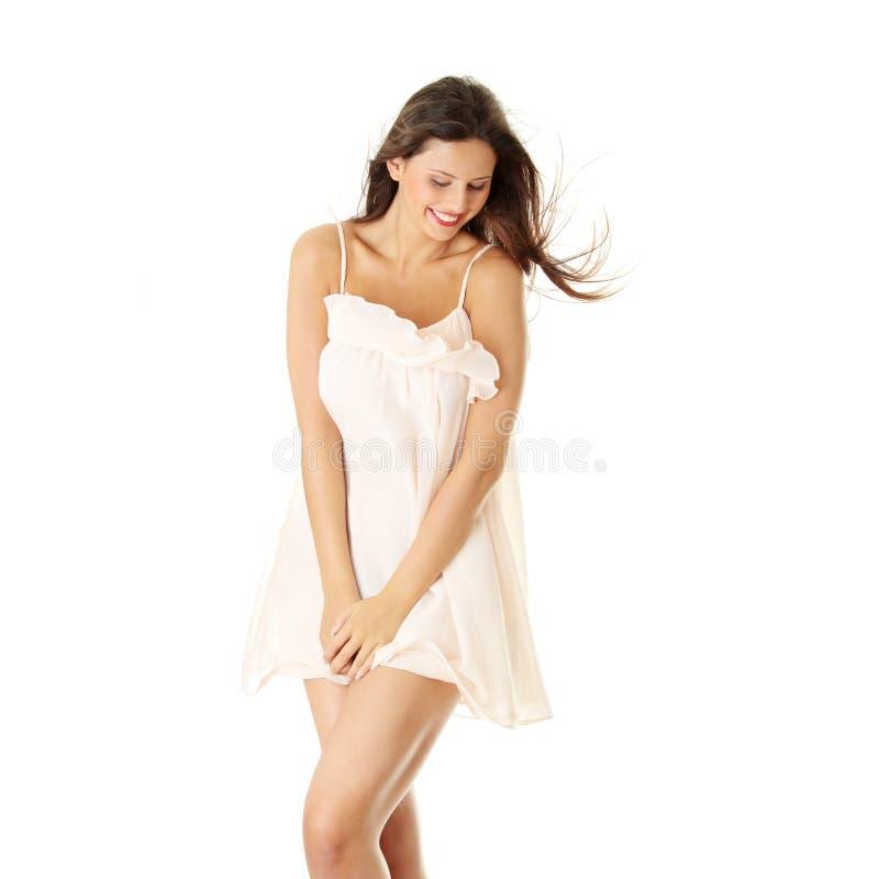 Mulher na saia fotos de stock