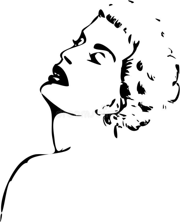Mulher na tinta ilustração do vetor